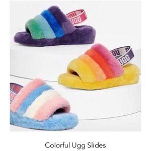 Ugg slides colorful